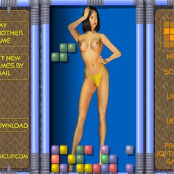 Tetris with a cute brunette