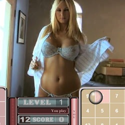 Play dice and undress blonde